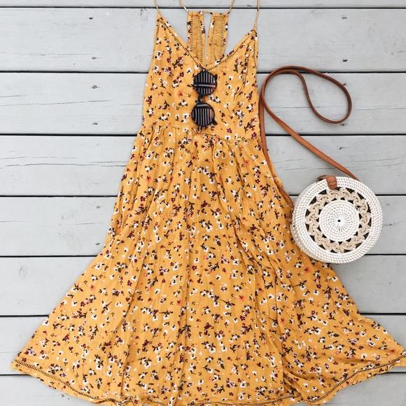 f283f85adecb OU Kimchi Blue Cindy Ladder Lace Midi Dress. M 5b5e3b3c4cdc30d22d4a2f70